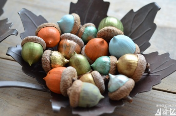 acorns-painted